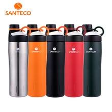 Santeco Oural Serie Vakuum Sportflasche Isoliert Edelstahl Outdoor Glaskolben Langlebig BPA freie Wasserflasche 590 ml