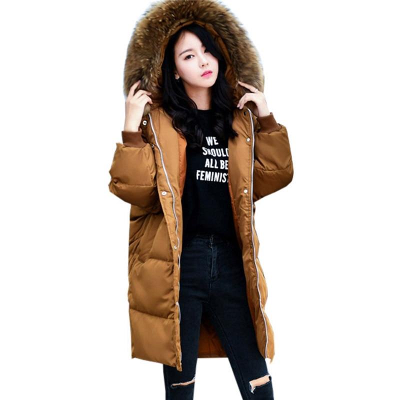Parkas For Women 2017 Winter Jacket Duck Down Coat Fur Collar Thickening Jacket Outerwear Female Snow Wear Brand FP0122