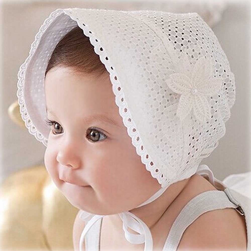 Spring Hollow Princess Bucket Hats For Girls Kid Spring Summer Floral Lace-Up Lace Cap Sun Hat Bonnet Breathable Caps ...