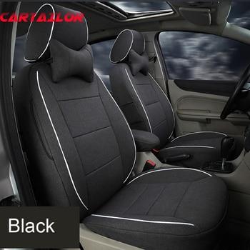CARTAILOR Custom Cover Seats for lexus es300 es350 es250 es330 series Car Seat Cover Set Linen Cloth Seat Covers & Support Black