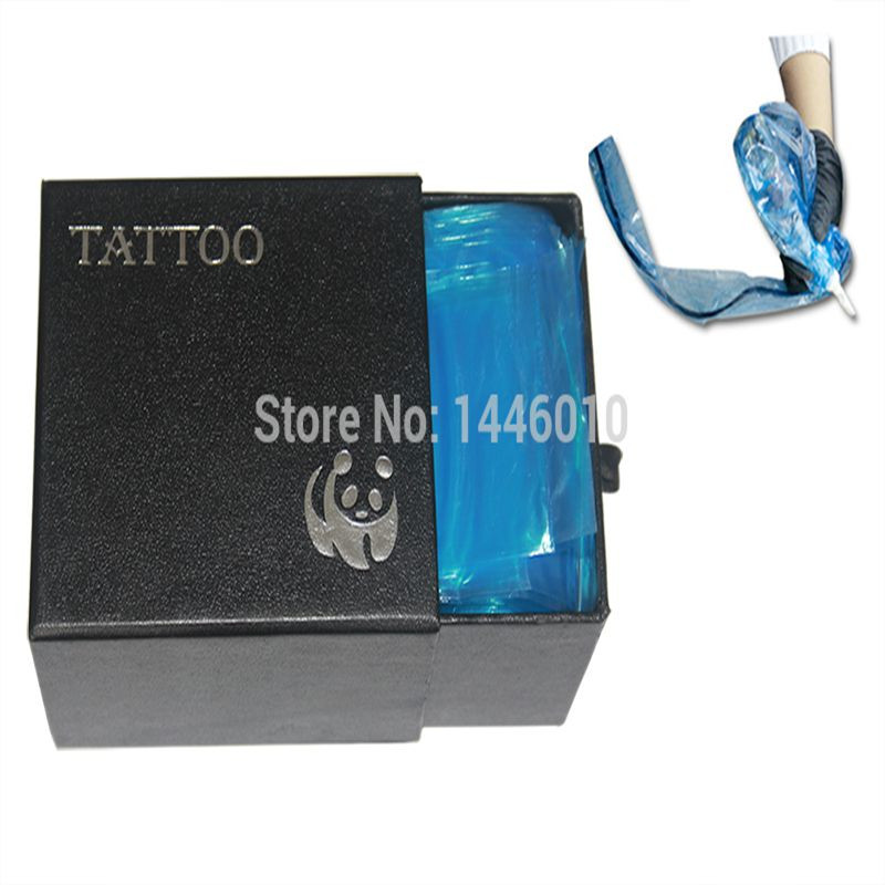 100pcs Plastic Blue Tattoo Clip Cord Sleeves Covers Bags Supply 16 New Hot Professional Tattoo Accessory Tattoo Clip Cord Bag 8