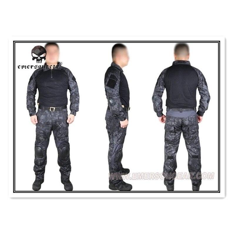 Emerson Kryptek Typhon Gen2 Combat uniform Tactical gear shirt and pants Army BDU Suits TYP EM6927 usmc digital urban camo v3 bdu uniform set war game tactical combat shirt pants ghillie suits