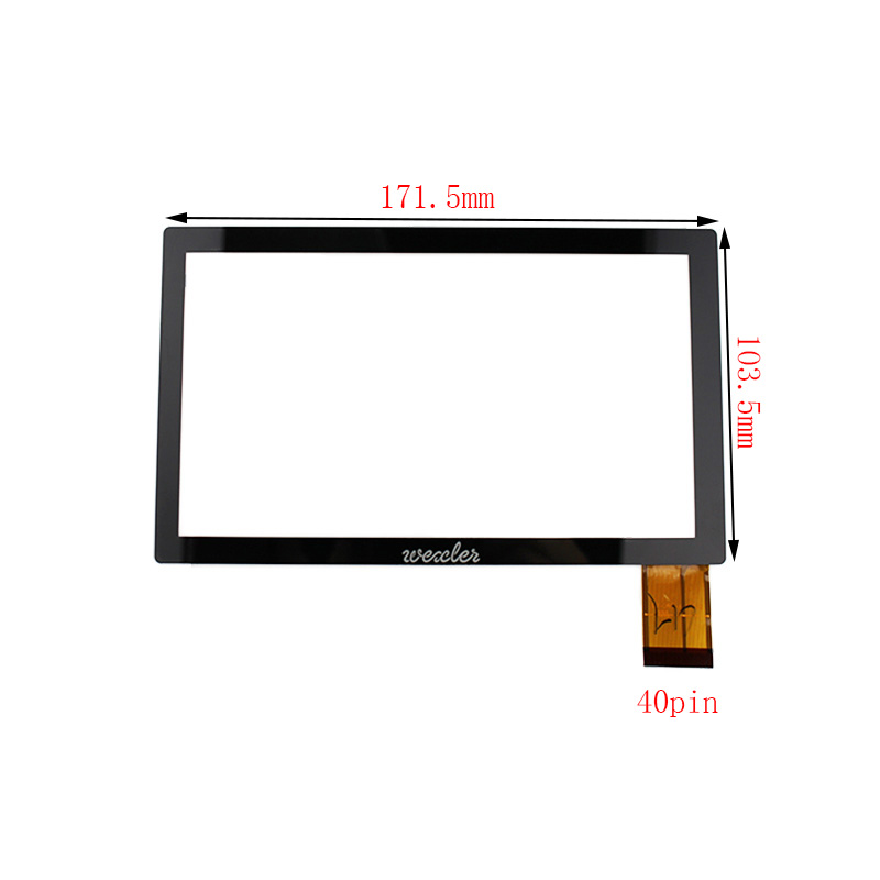 New 7 inch Touch Screen Digitizer Glass For Wexler Tab 7100 Prtablet PC Free shipping new 7 inch touch screen digitizer for for acer iconia tab a110 tablet pc free shipping