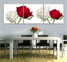 High Printings Paintings Red Rose Wedding Gift Wall Art Home Decoration Framed Canvas Oil Painting For Living Room Bedroom ht024