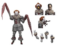 With LED NECA Stephen King's It Ultimate The Pennywise Dancing Clown Action Figure Toy Halloween Doll Gift