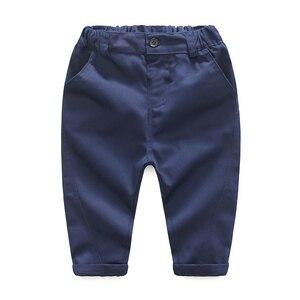 Image 5 - Одежда для маленьких мальчиков вечерние одежда комплект одежды для малышей, комплекты для новорожденных Детское платье майка + комбинезон + брюки, комплект из 3 предметов на осень и весну, комплекты одежды для детей KB8083