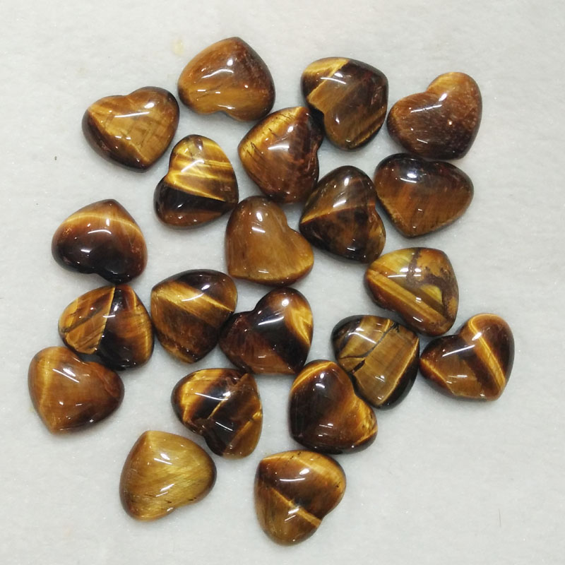 2016 new top quality natural tiger eye stone heart shape CAB CABOCHON beads for jewelry making 15x18mm wholesale 30pcs/lot free