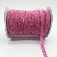 Glitter-Light Rose Ribbon Christmas-Decoration Wedding 5yards/Lot Clips-Bow Headband