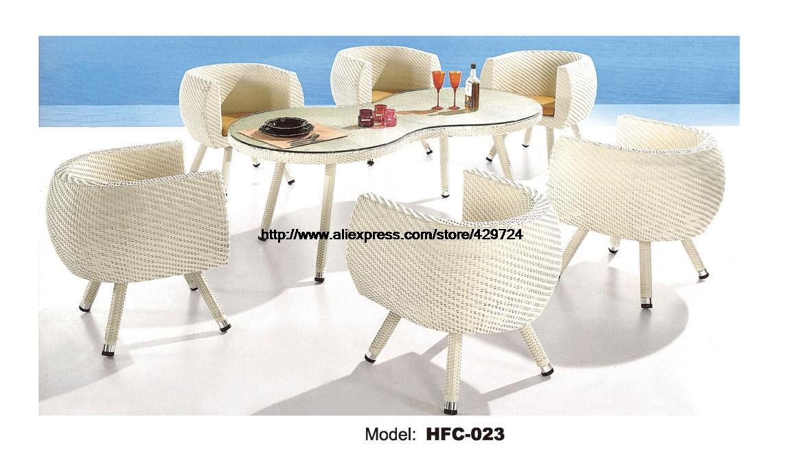 Creative Leisure Outdoor desk Table chairs balcony Garden furniture combination Set rattan chairs Galss Coffee table Set HFC-023 1pair 38 16 5cm lift up coffee table mechanism table furniture hardware fiftting usage for table cabinet desk spring hinges