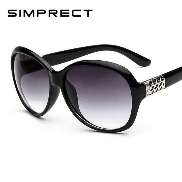 32789541ffd SIMPRECT 2019 Oval Sunglasses Women Retro UV400 Round Gradient Sun Glasses  Luxury Brand Designer Vintage Lunette De Soleil Femme