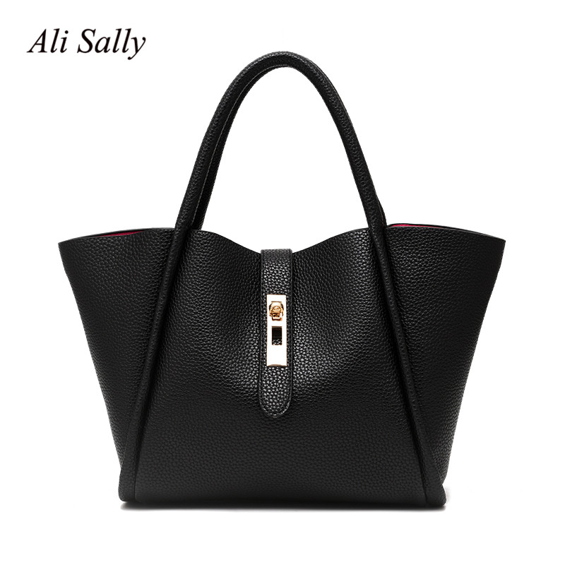 The new 2017 European and American leisure fashion simple hand the bill of lading shoulder lady bags handbag joker in summer the new leather ladies bags fashion trend in hand the bill of lading shoulder bucket bag handbag free postage