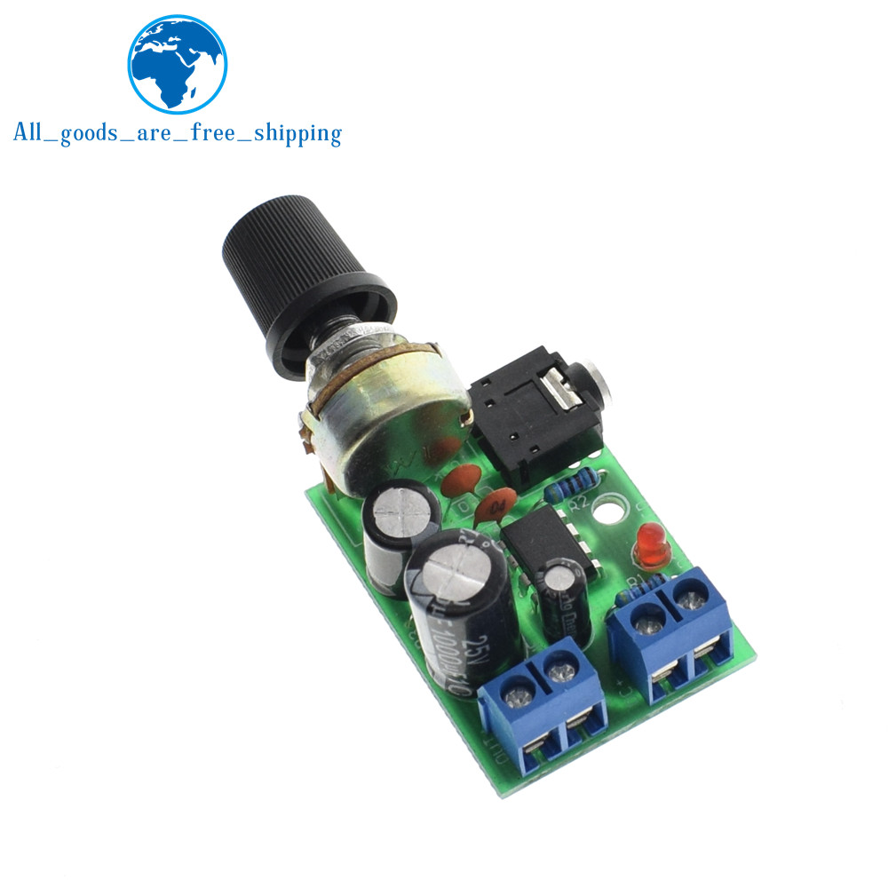 Tzt 1pc New Arrival Lm386 Audio Power Amplifier Board Dc 3v12v 5v Schematic Using Laser Diode And Low Voltage Mini Amp Module Adjustable Volume In Integrated Circuits From Electronic Components