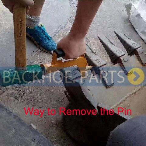 troca balde dente ferramenta pino dispositivo para todas escavadoras backhoes