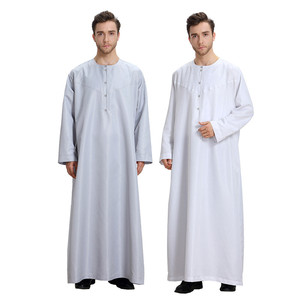 Islamic Clothing Men Kurta Long Sleeve Thobe Saudi Arabia Dubai Muslim Long Kaftan Islamic Men Abaya Loose Clothing S-XL,XXL,3XL