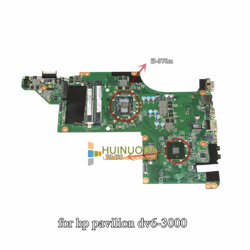 NOKOTION Original for HP pavilion dv6 dv6-3000 laptop motherboard DALX6HMB6C0 637212-001 i3-370m CPU hm55 gma hd DDR3 Mainboard nokotion 578377 001 laptop main board for hp pavilion dv6 dv6 1000 notebook motherboard gm45 ddr3 free cpu