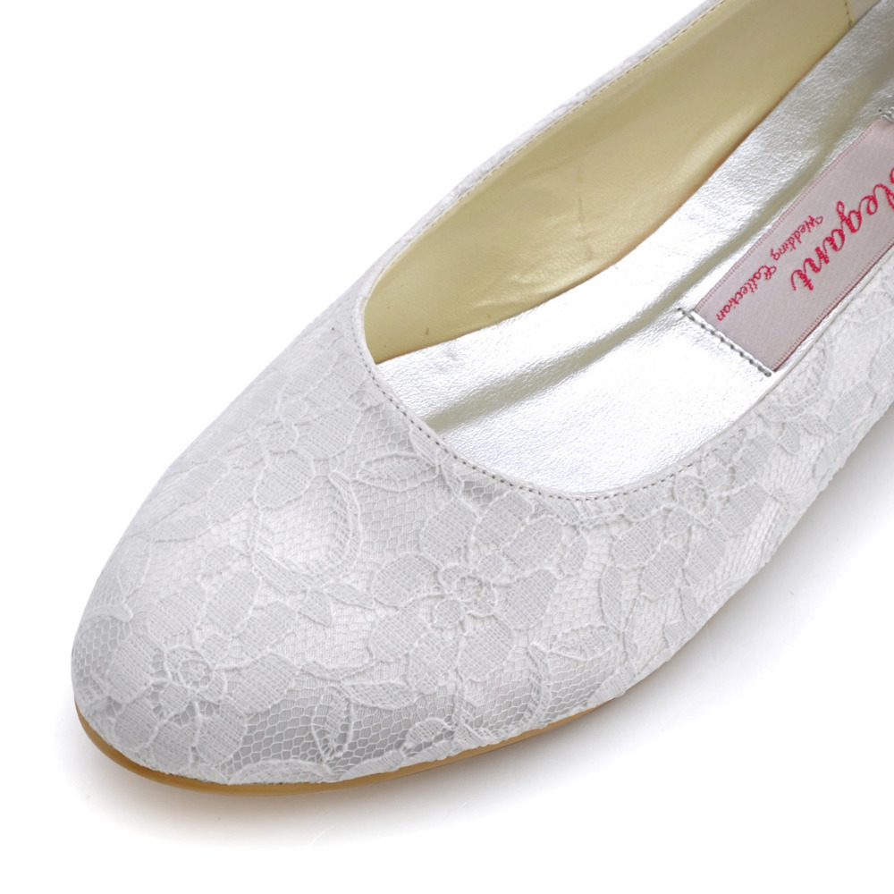 Wedding Table White Flats aliexpress com buy woman shoes flats white round toe comfort lace bride ballerina lady ballets bridal womens wedding
