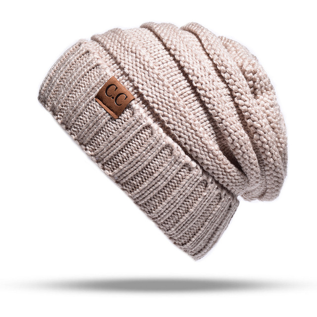e2611ad562867d Hot Sales CC Beanies Hats Caps Men Women Winter Knitted Hat Cap Women Solid  Casual Unisex Hip-Hop Cap Skullies Beanie Warm Hat