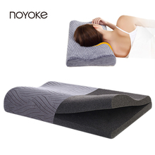 NOYOKE 65*34*8-6+2 Adjustable Activated Carbon Orthopedic Slow Rebound Memory Foam Pillow Health Care Therapy Pillow