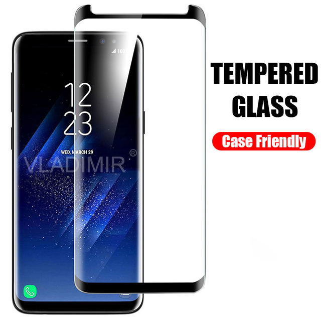 buy popular 06521 e138c US $2.35 20% OFF WEIYU 3D Curved Not Full Cover Tempered Glass Screen  Protector Film Case friendly for Samsung Galaxy S7 Edge S8 S9 plus Note 9  8-in ...