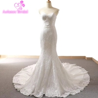 Elegent Simple Bridal Dress Sweetheart Mermaid Wedding Dresses 2018 Floor Length Lace Appliques Bridal Dress Robe de Mariage