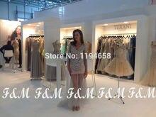 Neue Design 2016 Sexy V-ausschnitt Prom Kleider Kristall Mantel Für Party Abendkleider Mit Langen Ärmeln Kostenloser Versand