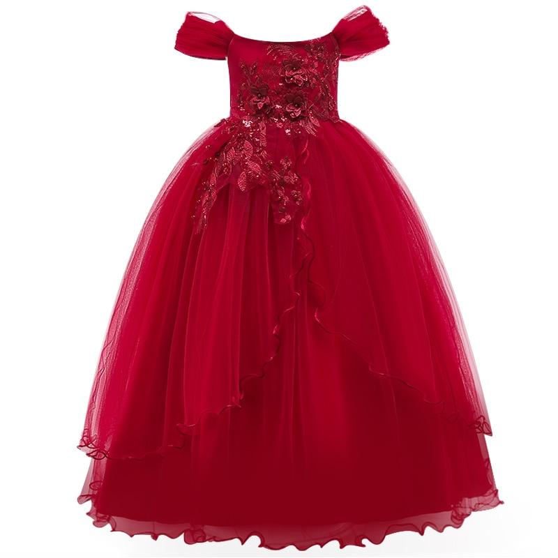Vestidos   Flower     Girls     dresses   for formal party Baby   Girls   Sleeveless embroidery tutu Princess Wedding   Dress   Children Party