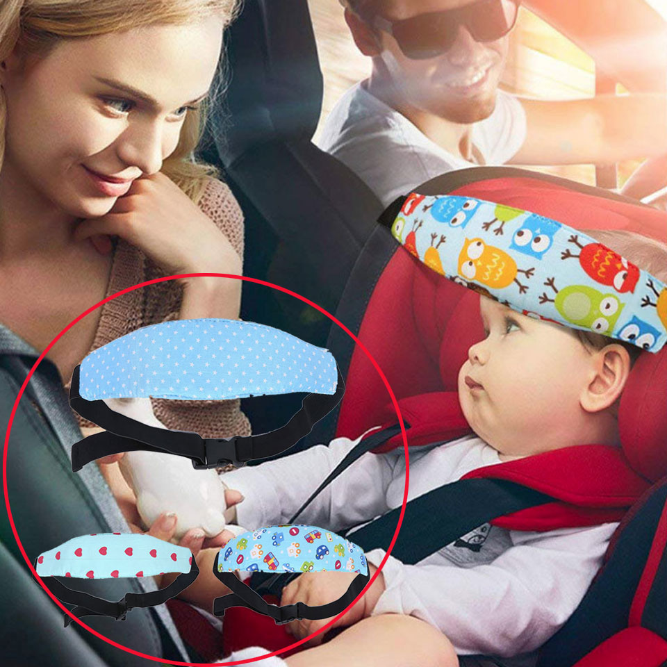 Car-Seat-Head-Support Interior-Accessories Comfortable Sleep Decor Nap-Belt Fixing-Band