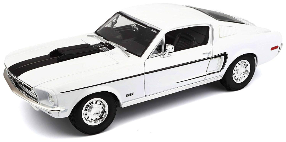 Maisto 1:18 1968 Ford Mustang GT COBRA JET Diecast Model Racing Car Toy NEW IN BOXMaisto 1:18 1968 Ford Mustang GT COBRA JET Diecast Model Racing Car Toy NEW IN BOX