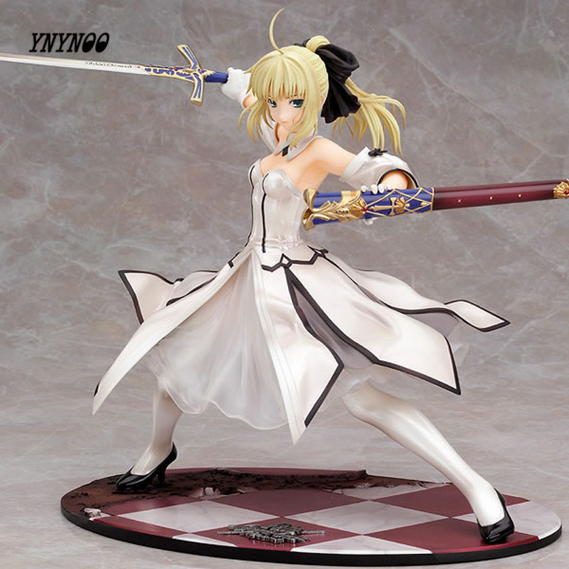 YNYNOO Japanese Anime Figures Fate stay night Saber Lily Doll the Sword of Victory Aciton Figure Model Toy 21cm In Box PVC sword in the storm
