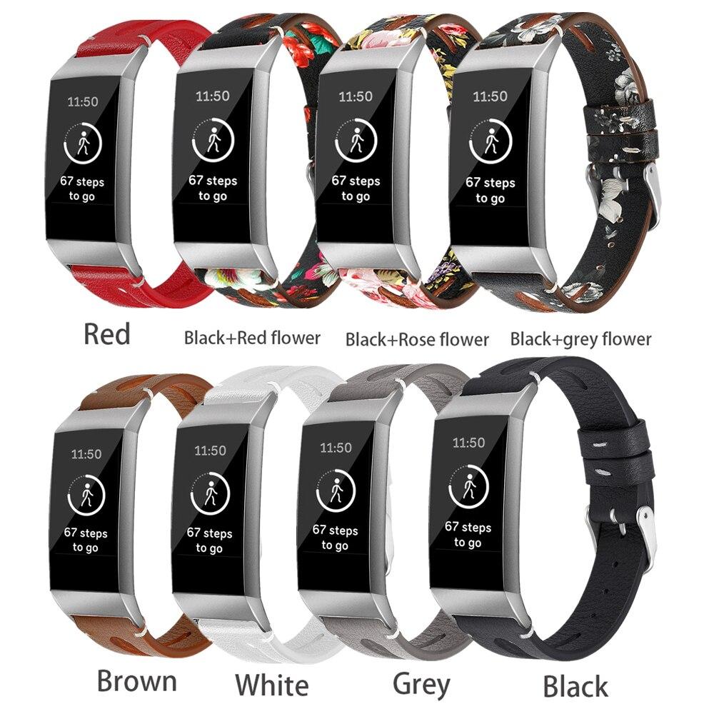 Für Fitbit Gebühr 3 Echtes Leder Handgelenk Band Strap für Fitbit Gebühr 3 Fitness Aktivität Tracker Smart Uhr Ersatz Strap
