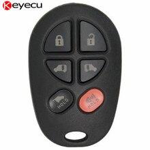 Keyecu 6 Button Keyless Entry Remote Car Key Fob for Toyota Sienna 2004 2005 2006 2007 2008 2009 2010 2011 2012 2013,GQ43VT20T