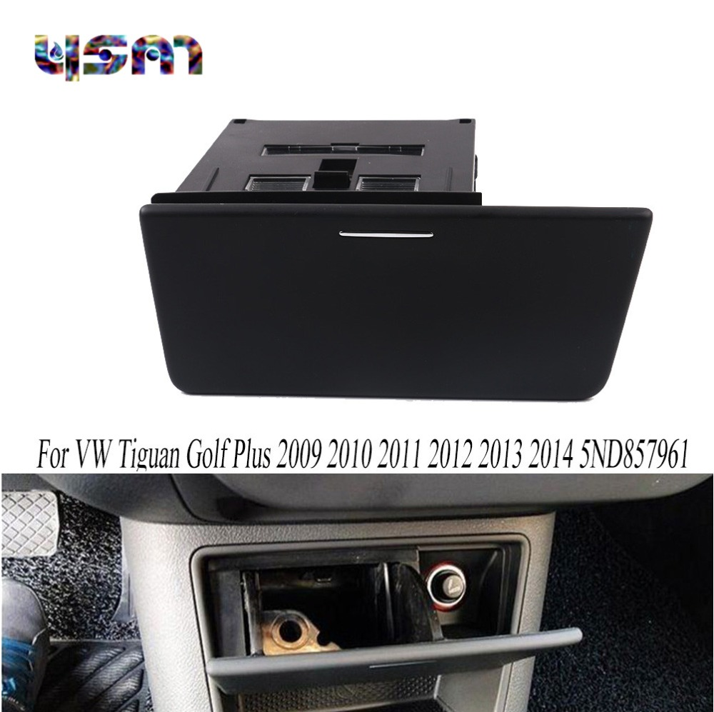 New Black Ashtray Console Storage Box Insert LHD For VW Tiguan Golf Plus 2009 2010 2011 2012 2013 2014 5ND857961