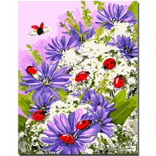 WEEN Purple Flowers-Abstract Painting By Numbers kit, Modern Wall Picture For Home Artwork,Diy Digital Paint 40x50cm
