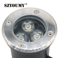 SZYOUMY Led 3W Underground Lamp White Warm White Recessed Floor Lights Waterproof Inground Light RGB Outdoor