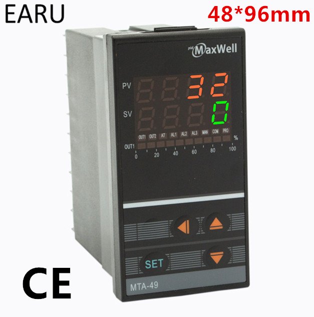 48*96mm Digital Temperature Controller Control AC85-265V Power Thermocouple Universial K J PT100 Input SSR Relay 4-20mA Output