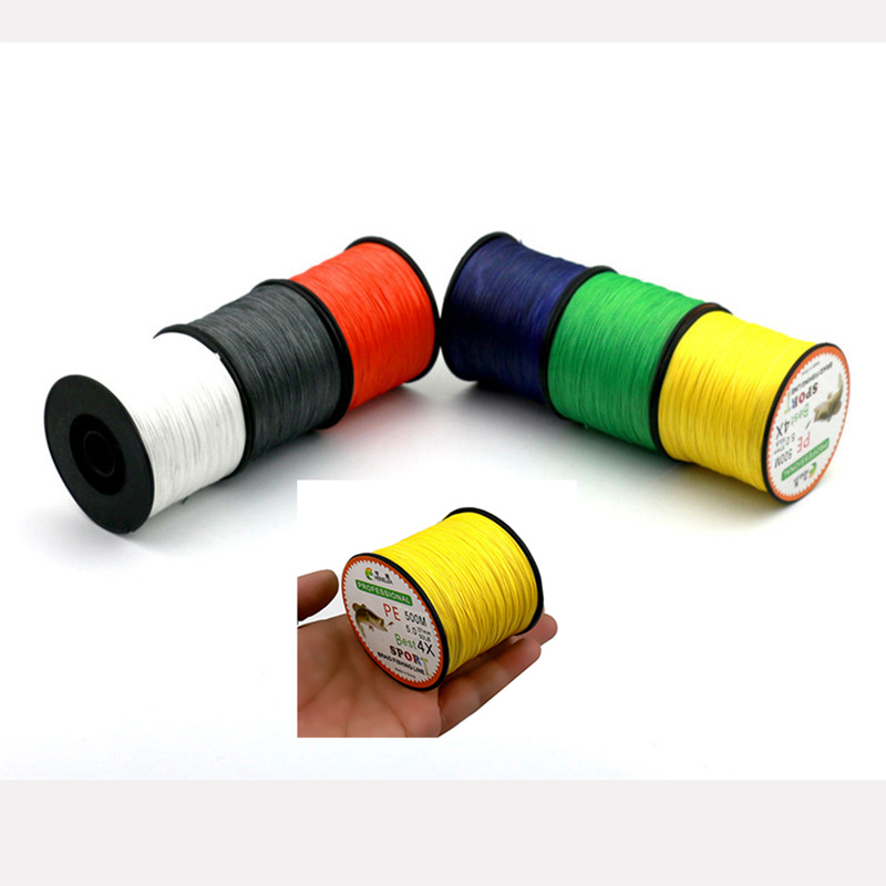 500M Super Strong China Line Multifilament For Fishing PE Braided Fishing Line 4 Strands Carp Fishing Sea Fish Wire 15lbs-80lbs