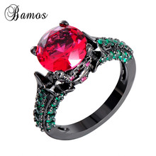 Size 6/7/8/9/10 Unique Women Fashion Jewelry Rose Red &