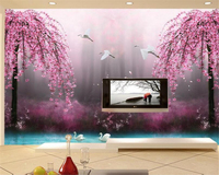 Beibehang HD Dream Fairyland Peach Blossom 3D TV Background Wall Murals Living Room Background Wall Decoration