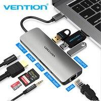 Vention Thunderbolt 3 Dock USB Hub Type C to HDMI USB3.0 RJ45 Adapter for MacBook Samsung Dex S8/S9 Huawei P20 Pro usb c Adapter
