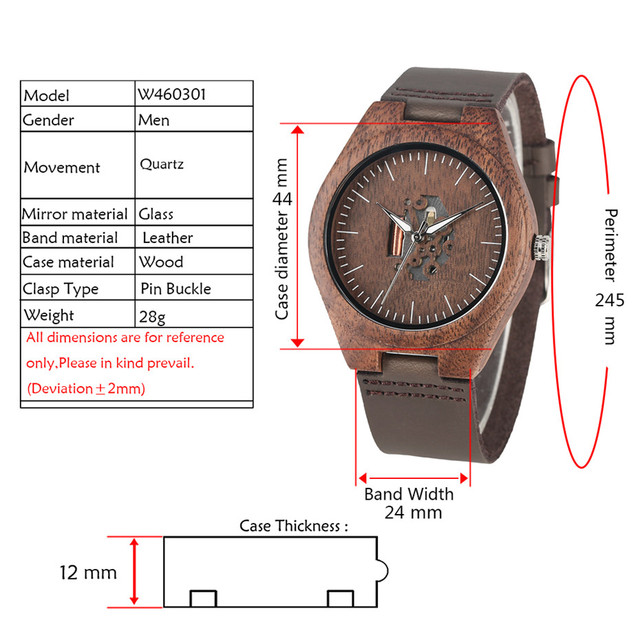 Coffee Brown Lovers Wood Watch Creative Arts Hollow Couple Timepiece Casual Men's Genuine Leather Watches Lady Wristwatches Gift 1