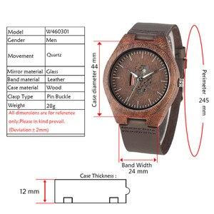 Image 2 - Часы наручные мужские из натуральной кожи, деревянные креативные парные повседневные, с отверстиями, для влюбленных, цвет кофе/коричневый