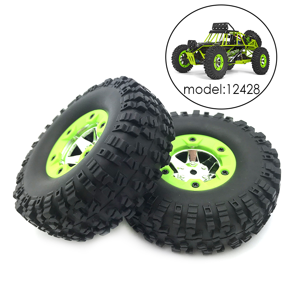 2/4pcs Original Rubber <font><b>RC</b></font> Car Tires <font><b>Wheel</b></font> Sapre Parts for Wltoys 12428 12423 <font><b>1/12</b></font> Scale Remote Control Truck Accessories image
