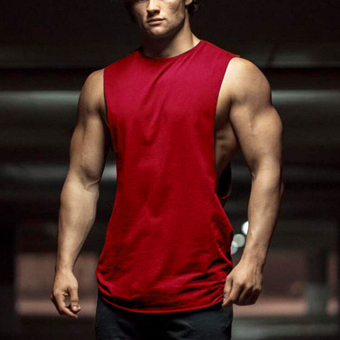 New Summer Gyms Fitness Bodybuilding Tank Tops Stringer fashion mens workout clothing Loose open side sleeveless shirts Vest Lahore