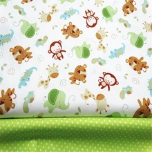 Monkey Dots Cotton Fabric Patchwork Tissue Cloth Handmade DIY Quilting Sewing Baby&Children Sheets Dress Material 2Pcs/Lot