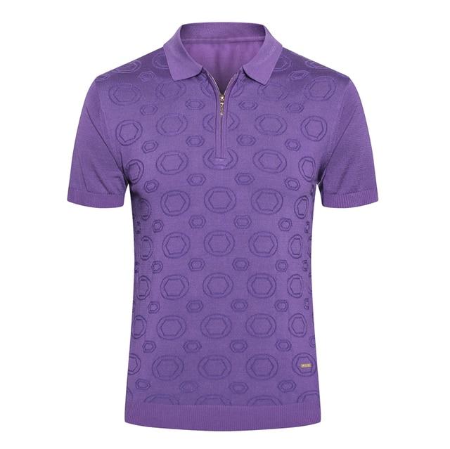 Billionaire T shirt silk men 2019 summer new Fashion casual zipper Business England gentleman big size M-5XL free shipping