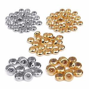 20pcs/lot 1/2/3mm Hole Size Copper With Silicone Inside Spacer Beads For Making Bracelet Necklace Jewelry Accessories(China)