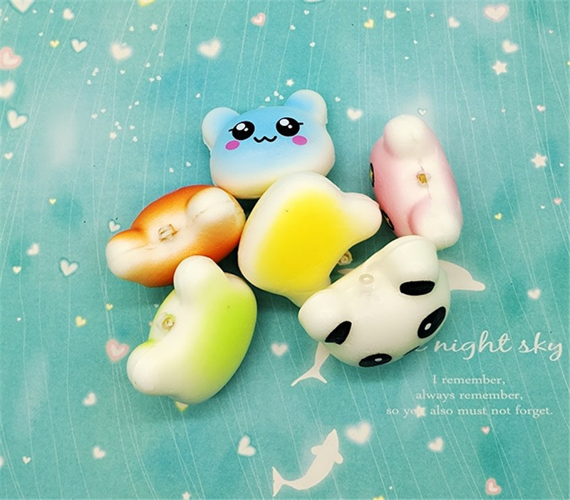 Advertising 4cm Mini Squishy Slow Rising Jumbo Lanyard Squishy Slow Rising Steamed Bread Panda Squeeze Lanyard For Keys Groot Phone Strap
