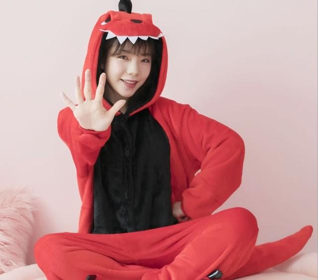 Кигуруми розовый динозавр Onesie для взрослых детей унисекс Косплей Костюм  пижамы цельный костюм животных карнавальный 5469a0a77c7dd