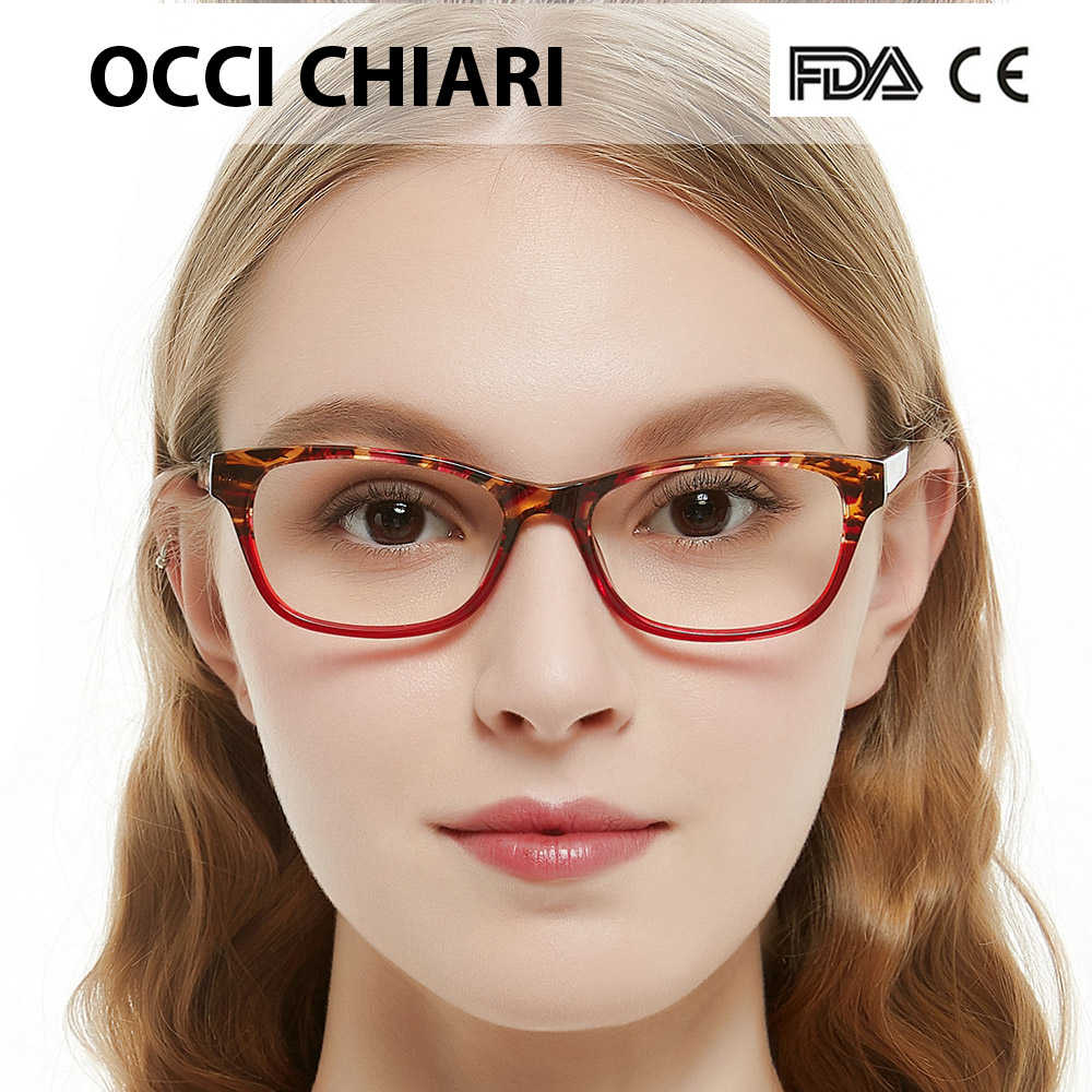 071c640d1b OCCI CHIARI Recommend Fashion Women Eyeglasses Demi Colors Patchwork  Prescription Nerd Lens Medical Optical Glasses Frame BENZON-in Eyewear  Frames from ...
