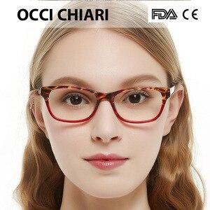 Image 4 - OCCI CHIARI tavsiye moda kadınlar gözlük Demi renk Patchwork reçete Nerd Lens tıbbi optik gözlük çerçevesi BENZON